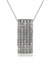 Lord & Taylor | Metallic Sterling Silver Pendant Necklace | Lyst