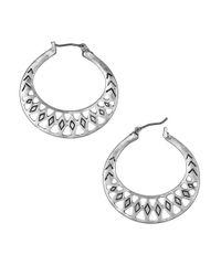 The Sak | Metallic Openwork Hoop Earrings | Lyst