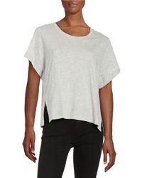 DKNY | Gray Silk Short-sleeved Top | Lyst