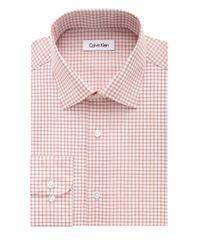 Calvin Klein | Pink Check Dress Shirt for Men | Lyst