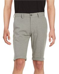 SELECTED | Gray Cuffed Shorts for Men | Lyst