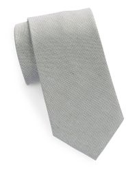 Cole Haan | Gray Classic Silk-linen Tie for Men | Lyst