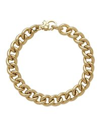 Lord & Taylor | Metallic 14k Italian Gold Thick Curb Link Necklace | Lyst