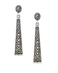 Lord & Taylor | Metallic Marcasite And Sterling Silver Drop Earrings | Lyst