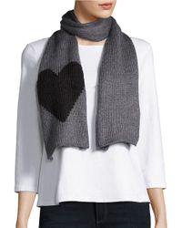 Wooden Ships | Gray Knit Heart Scarf | Lyst