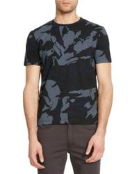 Kenneth Cole | Blue Camo-printed Crewneck T-shirt for Men | Lyst