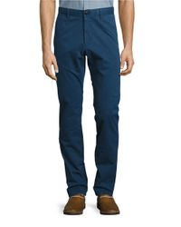 Strellson | Blue Twill Chino Pants for Men | Lyst
