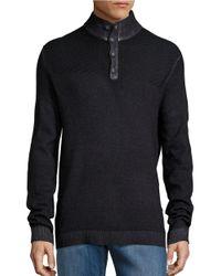 Strellson | Black Virgin Wool Pullover Sweater for Men | Lyst