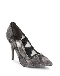 Adrianna Papell | Natural Addison Mesh-accented Pumps | Lyst