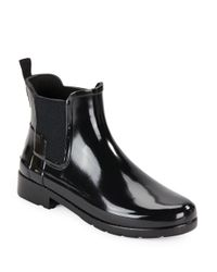 HUNTER   Black Women ́s Original Refined High Heel Chelsea Rain Boots   Lyst