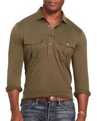 Polo Ralph Lauren   Green Cotton Military Popover Shirt for Men   Lyst