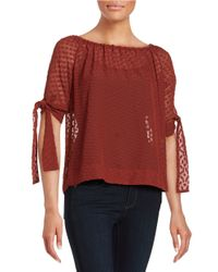 Lord & Taylor | Red Polka Dot Blouse | Lyst