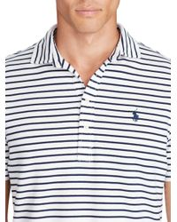 Polo Ralph Lauren | Blue Custom-fit Featherweight Polo for Men | Lyst