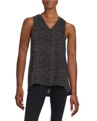 Lord & Taylor | Black Plus Dotted Shell | Lyst