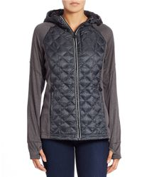 MICHAEL Michael Kors | Multicolor Hooded Zip Front Raglan Jacket | Lyst