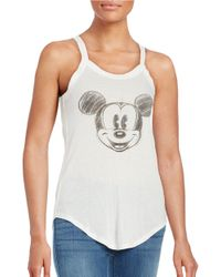 David Lerner | White Mickey Mouse Ribbed Tank Top | Lyst