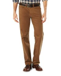 Dockers | Brown Five Pocket Straight Fit Pants for Men | Lyst