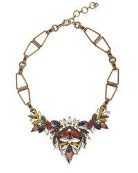 BCBGMAXAZRIA | Multicolor Multi-colored Stone And Brass Geometric Necklace | Lyst