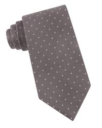 Calvin Klein | Gray Micro Square Silk Tie for Men | Lyst