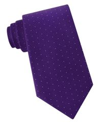Lord & Taylor | Purple Dotted Silk Tie for Men | Lyst