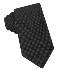 Michael Kors | Black Micro-dotted Silk Tie for Men | Lyst