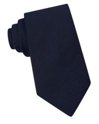 Michael Kors | Blue Micro-dotted Silk Tie for Men | Lyst