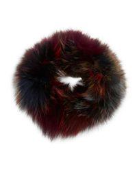 Adrienne Landau | Multicolor Dyed Fox Fur Headband | Lyst
