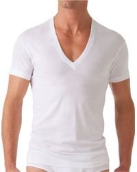 2xist   White Solid Dipped V-neck Tee for Men   Lyst
