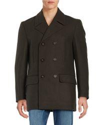 Lauren by Ralph Lauren   Green Wool-blend Double-breasted Pea Coat for Men   Lyst
