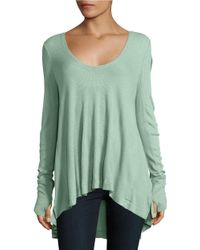 Free People | Green Malibu Thermal Long Sleeve Top | Lyst