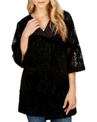 Lucky Brand | Black Embroidered Jacket | Lyst