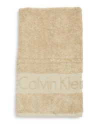 Calvin Klein | Natural Iconic Hand Towel | Lyst