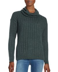 Lord & Taylor | Green Ribbed Turtleneck Sweater | Lyst