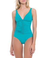 Gottex | Blue Waterfall D-cup One-piece Swimsuit | Lyst