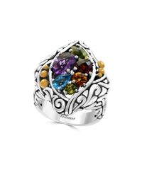 Effy | Metallic Amethyst, Blue Topaz, Citrine, Garnet, Peridot And 18k Gold-plated Sterling Silver Ring | Lyst