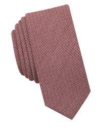 Original Penguin | Red Biloki Solid Tie for Men | Lyst