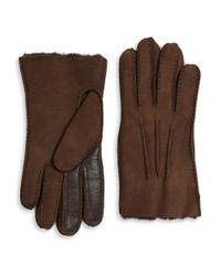 UGG | Brown Sheepskin Smart Glove for Men | Lyst