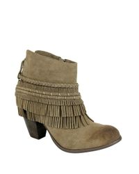 Naughty Monkey | Brown In Lyne Henna Arwork Leather Ankle Boots | Lyst