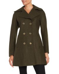 MICHAEL Michael Kors | Green Wool-blend Peacoat | Lyst