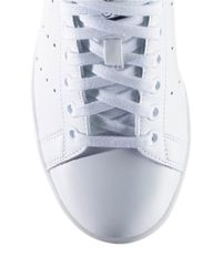 Adidas Originals | White Stan Smith Leather Sneakers | Lyst