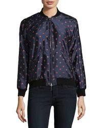 Nikki Chasin | Blue Reversible Embroidered Bomber Jacket | Lyst