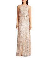 Donna Morgan | Multicolor Tiffany Embellished Halterneck Dress | Lyst