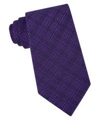 Calvin Klein | Purple Broken Plaid Tie for Men | Lyst