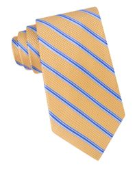 MICHAEL Michael Kors | Yellow Houndstooth Striped Silk Tie for Men | Lyst