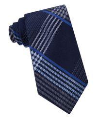 MICHAEL Michael Kors | Blue Tracks Plaid Silk Tie for Men | Lyst