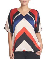 Chaus | Multicolor Dolman Sleeve Coastal Stripe Blouse | Lyst