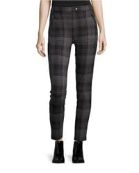 Kensie | Black Plaid Ponte Leggings | Lyst