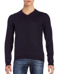 BOSS Green | Blue Knit Wool Sweater for Men | Lyst