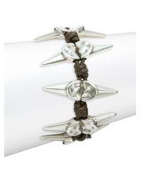 Uno De 50 | Metallic Braided Scattered Spike Bracelet | Lyst
