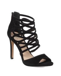 Vince Camuto | Black Kirsi Leather Dress Sandals | Lyst